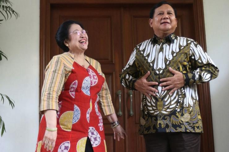 Megawati dan Prabowo dalam pertemuan terakhir yang terjadi setelah Pilpres 2019 (thejakartapost.com).