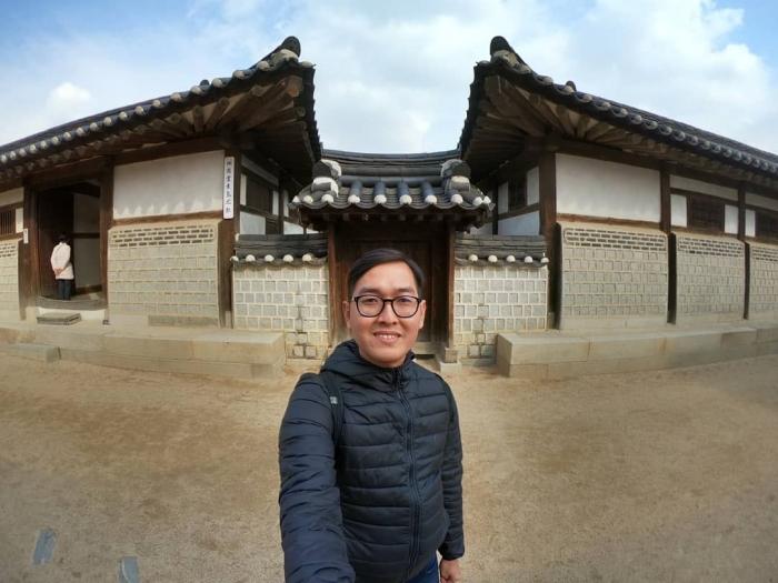 Salah satu rumah tradisional Korea/hanok di Namsangeol (Dokpri)
