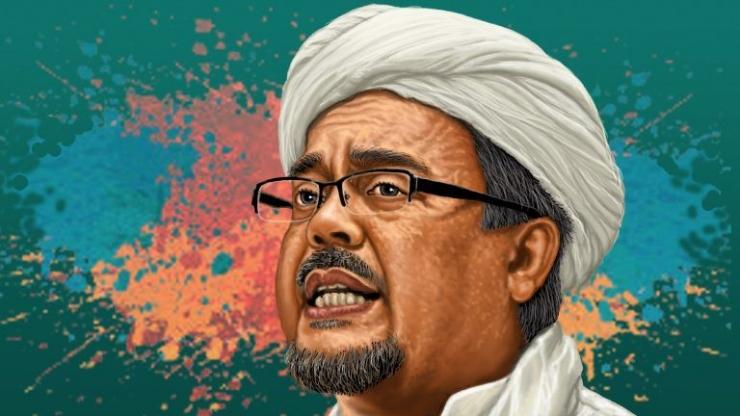 Habib Rizieq Shihab, sang imam besar FPI | Ilustrasi gambar : www.polhukam.id