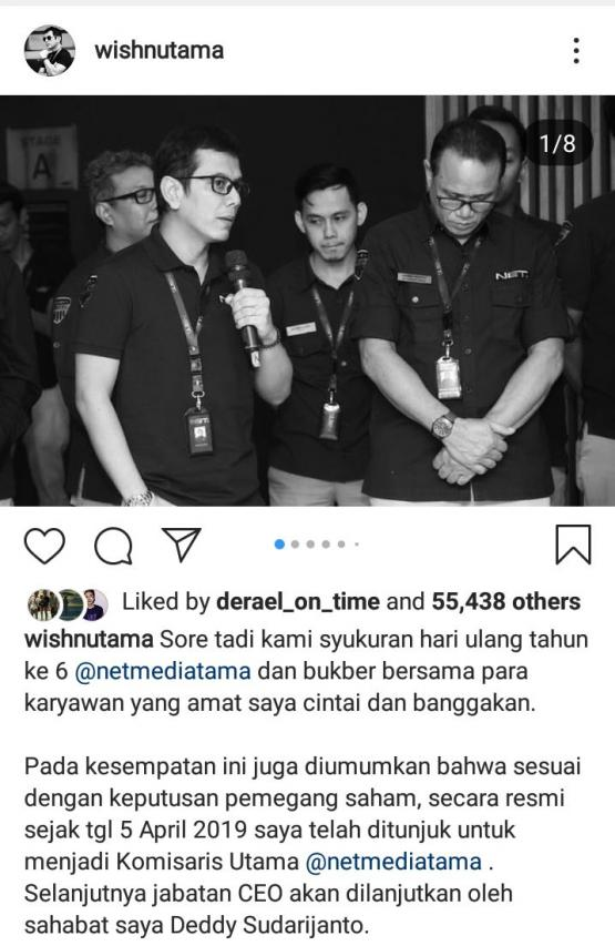Sumber: Instagram @wisnutama