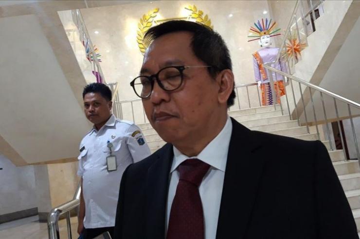 Sekretaris DPRD DKI Jakarta, M. Yuliadi di Gedung DPRD DKI Jakarta (Kamis, 15/8/2019) | KOMPAS.com/ RYANA ARYADITA UMASUGI