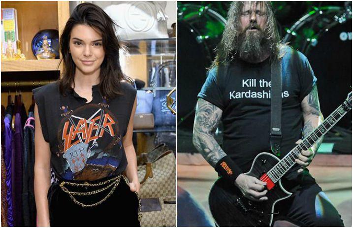 Kendall Jenner dan Gary Holt 'Slayer' (Gambar: Altpress.com)