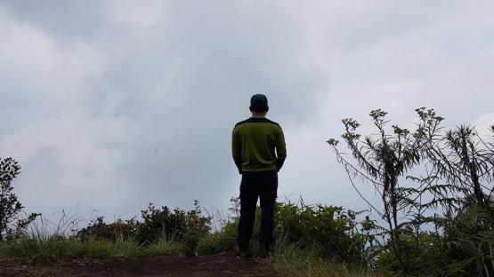 Memandang panorama kota Payakumbuh terhalang kabut asap (dokpri)
