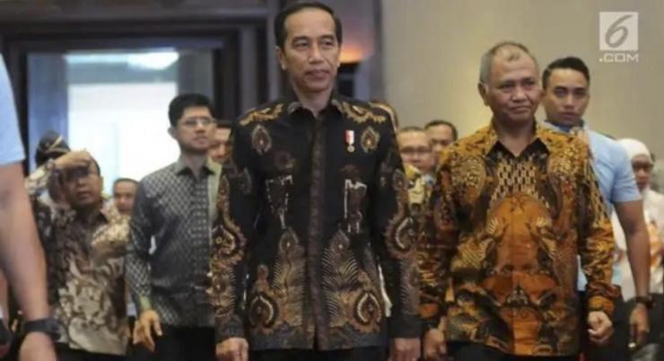 Ilustrasi Jokowi dan Agus Rahardjo Mengawal KPK (Foto Liputan 6)
