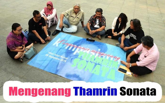 Mengenang alm Thamrin Sonata di TM, Jakarta, Minggu 8 September 2019. (Foto Rahab Ganendra)