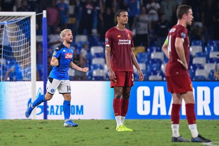 Selebrasi Dries Mertens, pemain Napoli (Foto Getty Images)