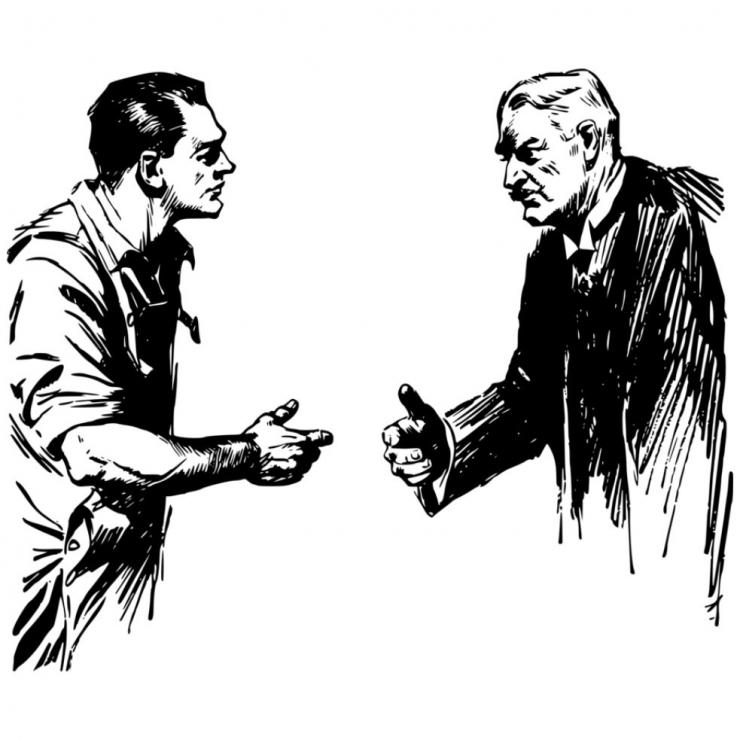 Ilustrasi interaksi muda dan tua. (Kisscc0.com)