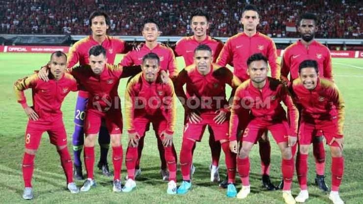 Starting line-up di laga menjamu Vietnam (15/10) di Stadion I Wayan Dipta, Bali. (Indosport.com)