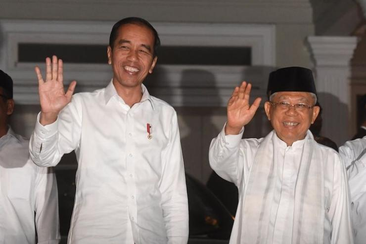 Usai dilantik sebagai Presiden dan Wakil Presiden, Jokowi dan Ma'ruf Amin dikabarkan akan segera mengumumkan susunan kabinet  Sumber: Antara Foto/Akbar Nugroho Gumay