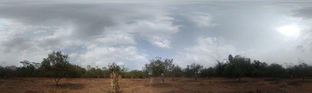 Kebun Rambutan Merangas, Gersang dan Langit mendung (Dokumentasi pribadi)