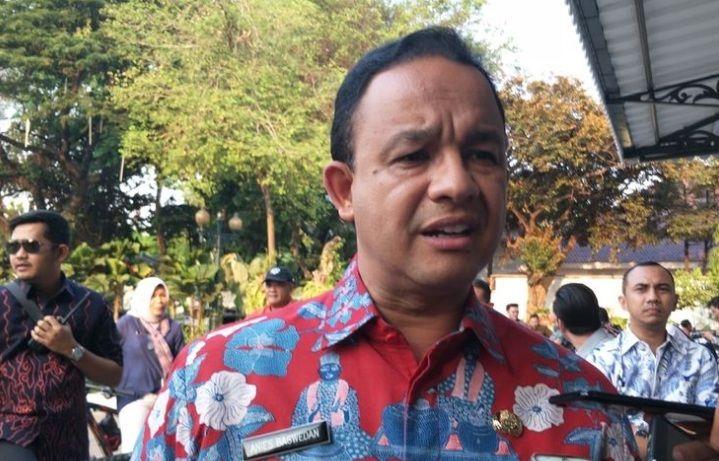 Gubernur DKI Jakarta Anies Baswedan di Balai Kota DKI Jakarta, Jalan Medan Merdeka Selatan, Kamis (24/10/2019).(KOMPAS.COM/NURSITA SARI)