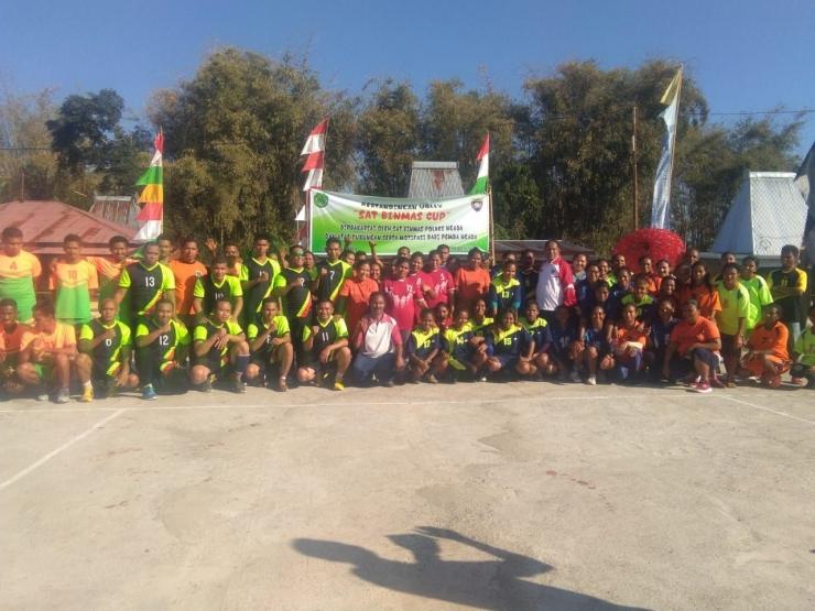 Pembukaan Turnamen Bola Volly Sat Binmas Cup | dokpri