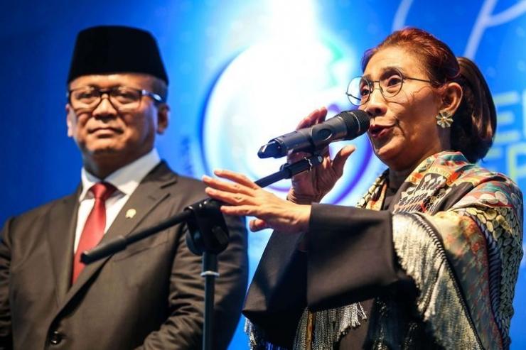 Edhy Prabowo dan Susi Pudjiastuti (Kompas.com)