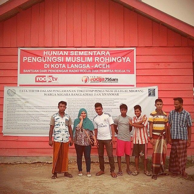 Foto: Dokumentasi pribadi saat meliput pengungsi Ronghiya di Langsa, Aceh