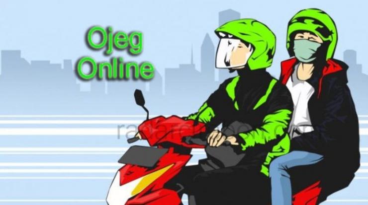 Ilustrasi Ojek Online (sumber: http://radarcirbon.com)