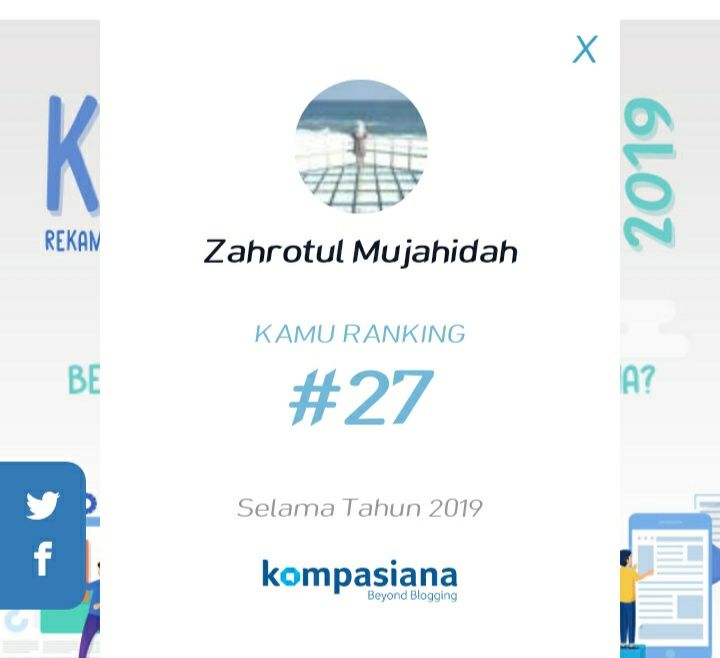 Screenshot dalam ranking Kaleidoskop Kompasiana tahun 2019. Dokpri
