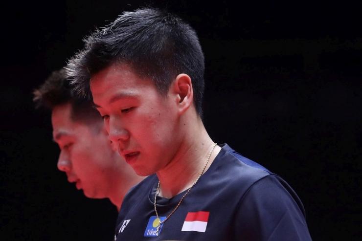 Ganda putra Indonesia, Marcus Gideon dan Kevin Sanjaya, lolos ke putaran II Indonesia Masters 2020. Namun, penampilan mereka tadi malam mengkhawatirkan.Foto: thejakartapost.com