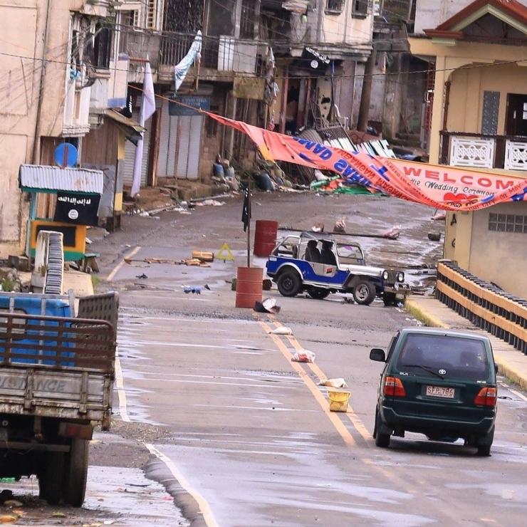 Salah satu pemandangan kota Marawi, Filipina selama bentrok dengan ISIS di tahun 2017. Sumber foto: ABS-CBN News.com