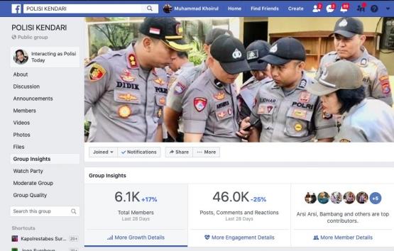 Hasil screenshot grup Polisi Kendari | Dokpri
