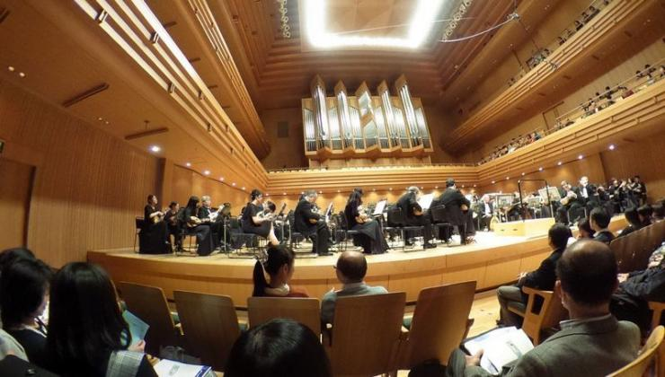 Suasana Konser di Concert Hall Tokyo Opera CIty (dokumentasi pribadi)