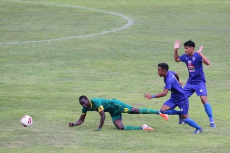 Laga Persebaya Surabaya vs Arema FC diStadionSoeprijadi, Selasa (18 /2/2020).(KOMPAS.com / Suci Rahayu)