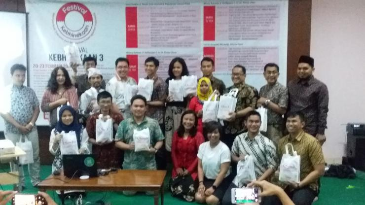Kreator, pemandu dan pengisi acara Millenial Talks di Festival Kebhinnekaan ke-3 hari pertama, 20 Februari 2020 di Griya GusDur Jakarta. Sumber: Dok. Pribadi