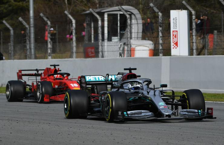 Valtteri Bottas dan Charles Leclerc, sumber: Sky Sports