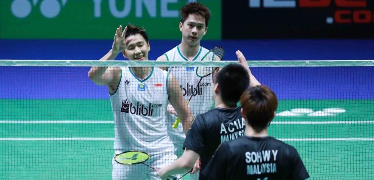 ganda putra Indonesia, Marcus Gideon dan Kevin Sanjaya akan tampil di final All England menghadapi ganda Jepang yang mengalahkan mereka beruntun di 2019/Foto: badmintonindonesia.org