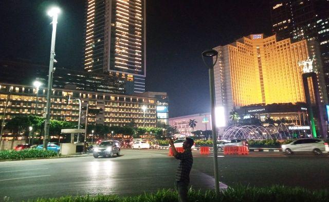 Kawasan Bundaran HI Jakarta di Malam Hari, Dipetik Akhir 2019, sebagai Ilustrasi (Dokpri)