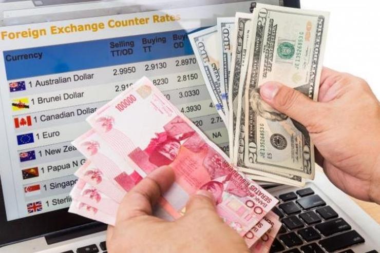 kurs dollar terhadap rupiah/ sumber: kompas.com