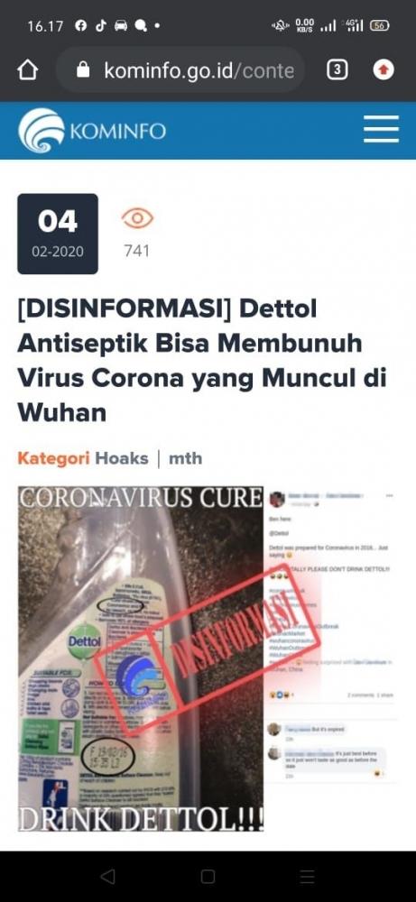Informasi dari situs kominfo.go.id halaman 1 (sumber: Google.com)
