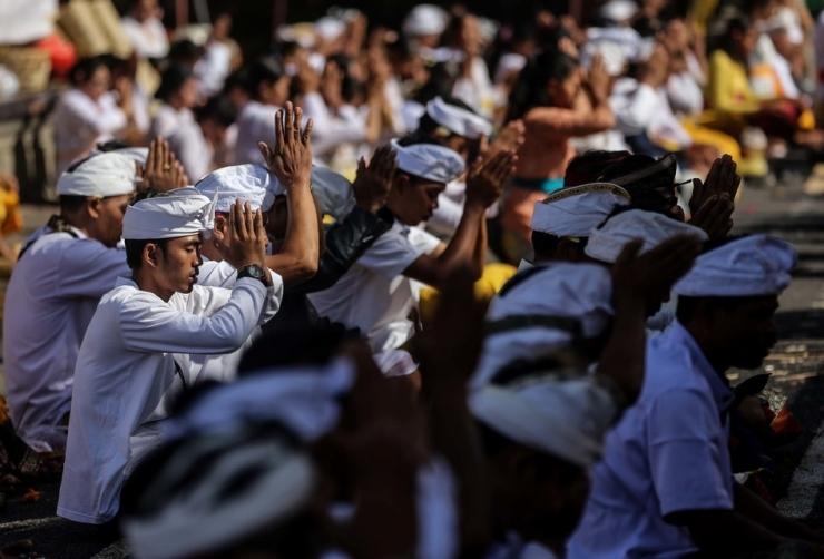 Perayaan ibadah Nyepi di Bali | Foto: KOMPAS.com/Gary Lotulung
