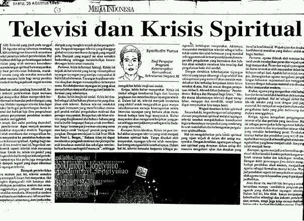 Sumber: Media Indonesia - Opini 26 Agustus 1995