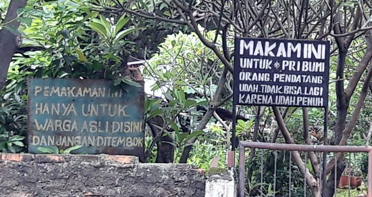 Pintu masuk pekuburan Gang Sapi di Jakarta (Dokpri)