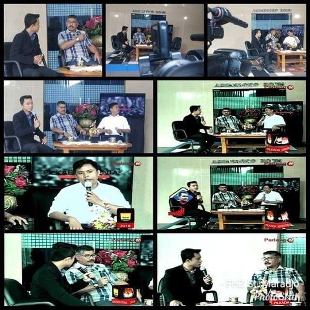 Foto Pribadi: Andrian Habibi saat menjadi narasumber Padang TV