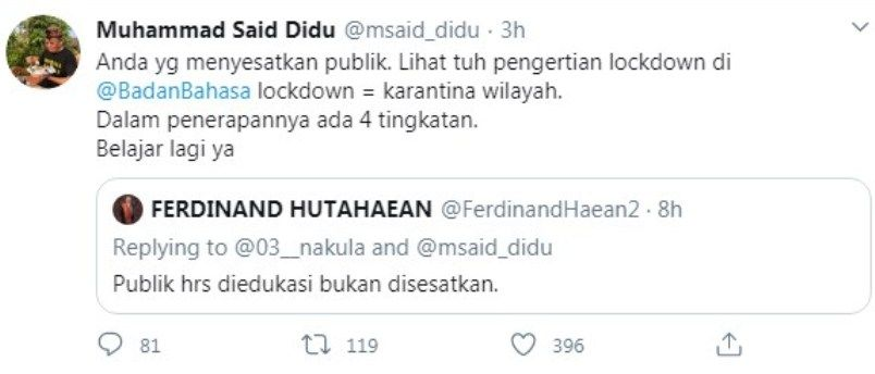 sumber gambar: akun Twitter Muhammad said Didu.