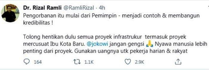 Sumber gambar: akun Twitter Rizal Ramli.