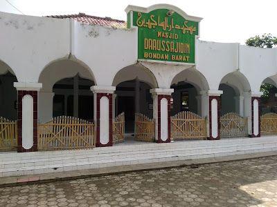 Tampak depan Masjid Darussajidin Bondan Barat (Dokumen Didno)