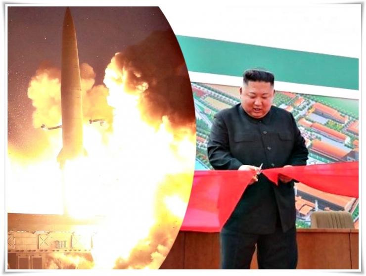Kim Jong Un muncul kembali dalam seremoni selesainya pembangunan pabrik pupuk fosfat di Sunchon yang diduga juga merupakan bagian dari program nuklir Korut (doc.BBC, nationalinterest.org/ed.Wahyuni)