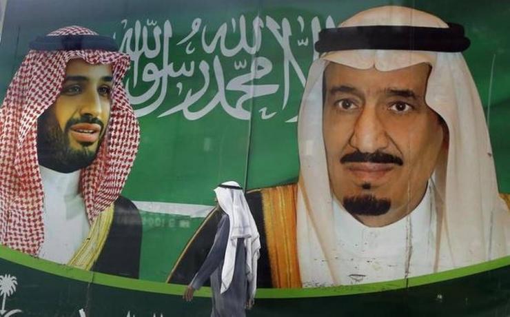 Raja Salman (kanan) dan Pangeran Mohammed bin Salman (kiri). Photo: AP.