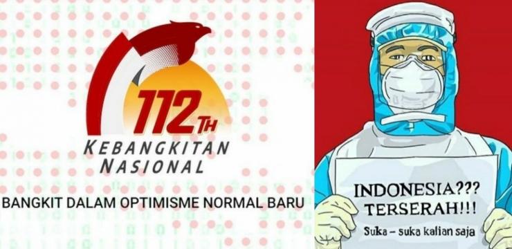 Ilustrasi. Hari Kebangkitan Nasional dan Indonesia Terserah, 2 Hal yang Berbeda (Sumber : Kompas.com dan Ruangobrol.id)