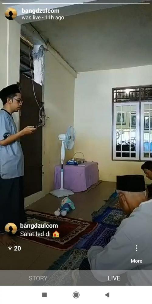 Khatib di rumah saja (dok.pribadi)