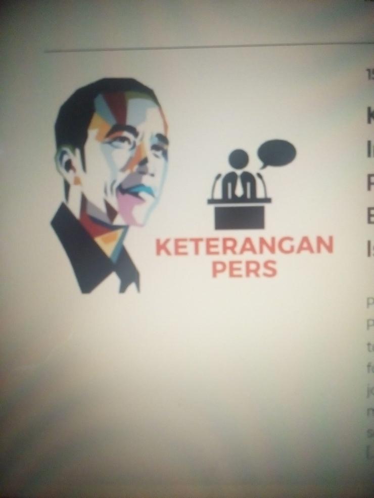 Foto: Sumber dari situs Setkab. Saat Presiden Pidato tentang New Normal.