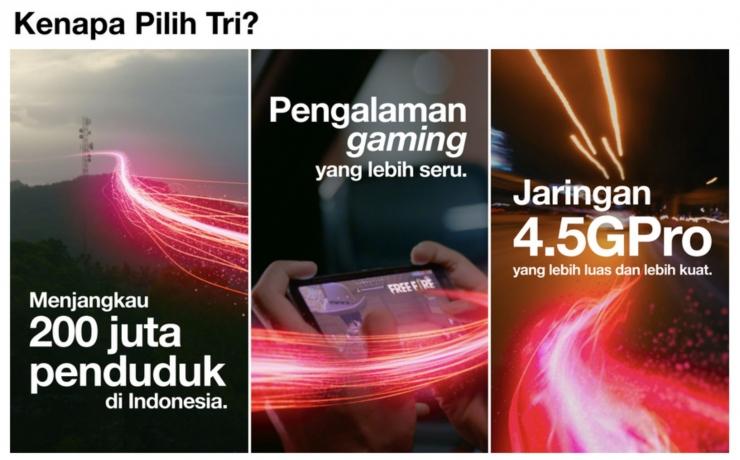 3 Indonesia terus memperluas cakupan 4.5G LTE di lebih banyak kabupaten, terutama untuk Indonesia Timur. Foto: tri.co.id