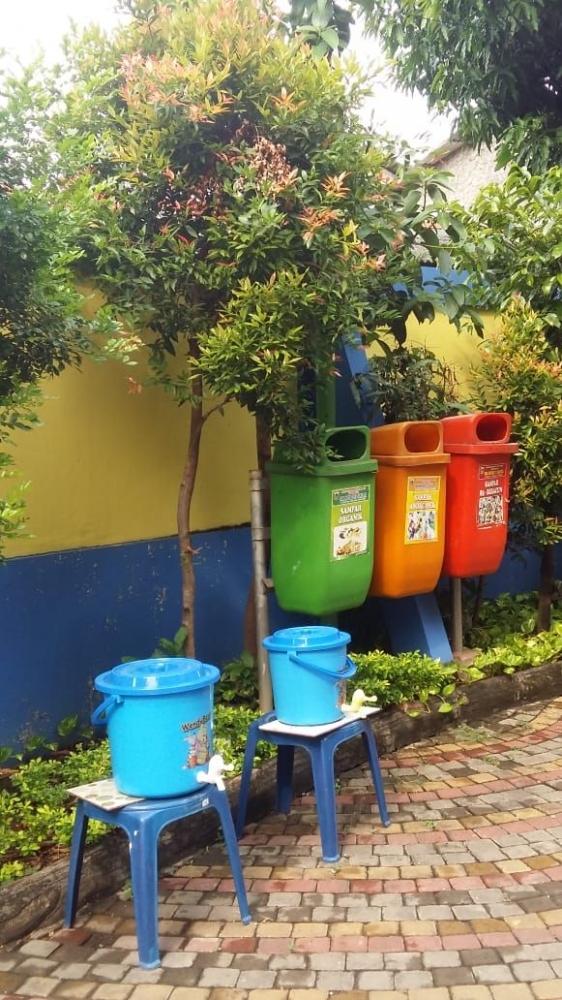 Fasilitas cuci tangan umum (Dokumen Pribadi)
