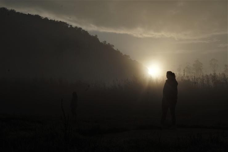 Matahari terbit di Ranca Upas, Ciwidey (dokumentasi pribadi).
