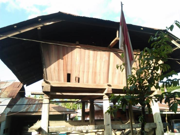 Salah satu lumbung padi di Desa Martelu, Kabupaten Karo (Dokumentasi pribadi)