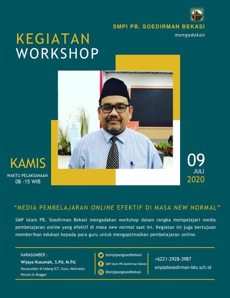 omjay di kegiatan workshop smp islam pb soedirman