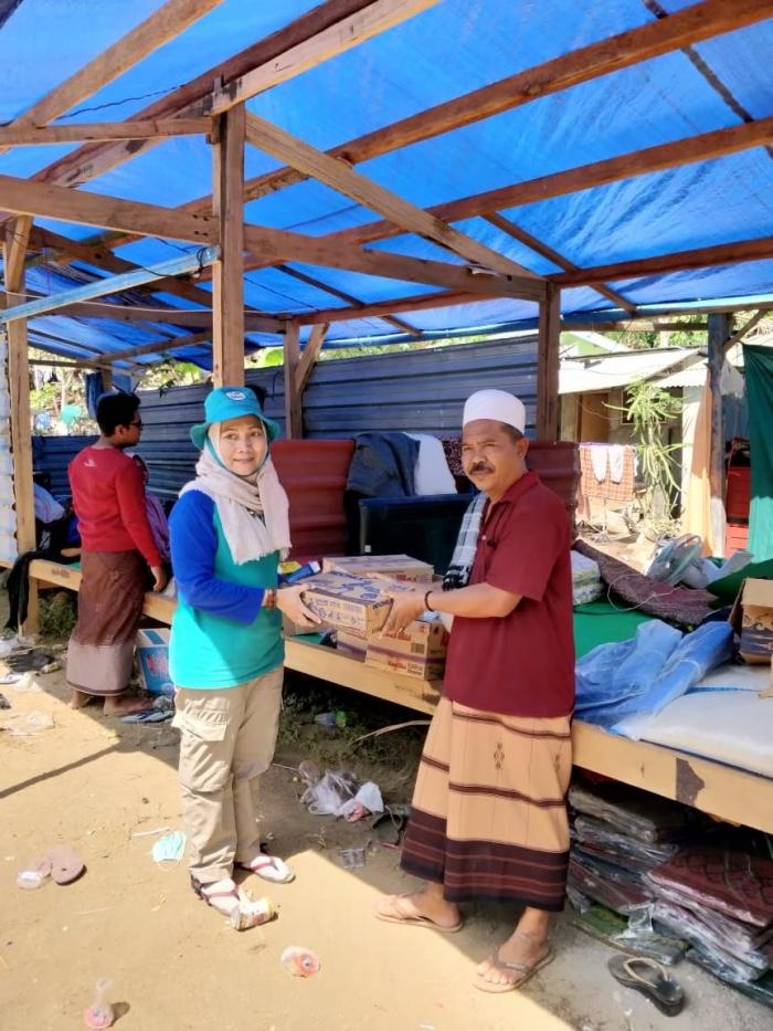 tanggap bencana gempa dan tsunami Lombok (dok. Komunitas Lebah)
