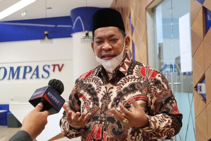 Rektor UIN Sumatera Utara, Sidurrahman, memberikan keterangan mengenai tantangan yang dihadapi ideologi Pancasila di era digital.(KOMPASIANA/LIKE PERMATA DEWI)